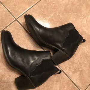 Frye black booties